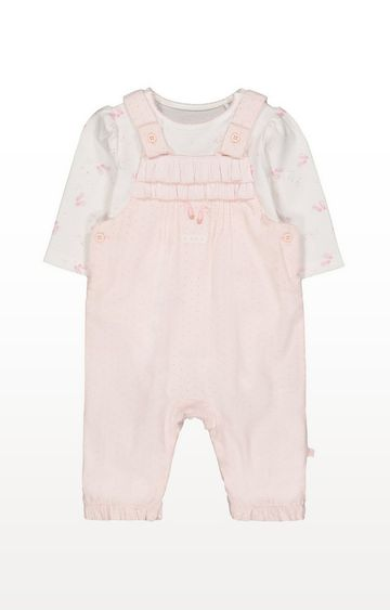 Mothercare | My First Pink Cord Dungaree And Bodysuit Set