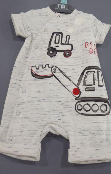 Mothercare   Grey Printed Romper