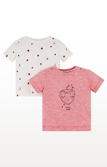 Mothercare | Strawberry Frill Tops - 2 Pack