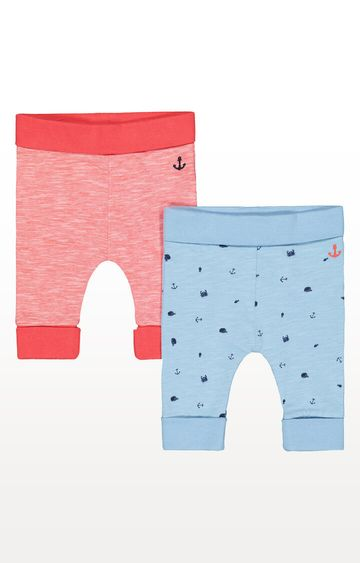 Mothercare | Red Anchor and Blue Whale Joggers - Pack of 2