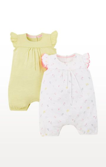 Mothercare | Lemon Yellow Rompers - 2 Pack