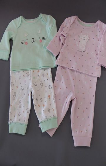 Mothercare | Pink and Green Printed Nightsuit