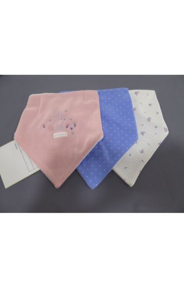 Mothercare | Pink, Blue and White Printed Bibs - Pack of 3