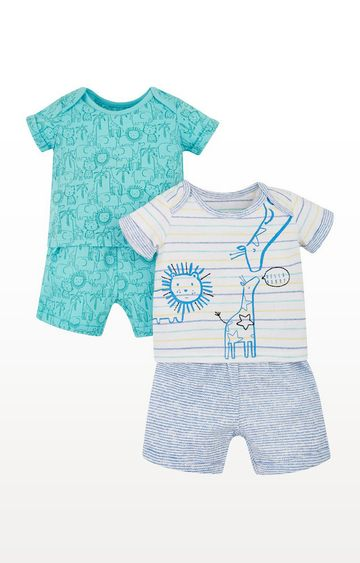 Mothercare | Jungle Animals Shortie Pyjamas  2 Pack