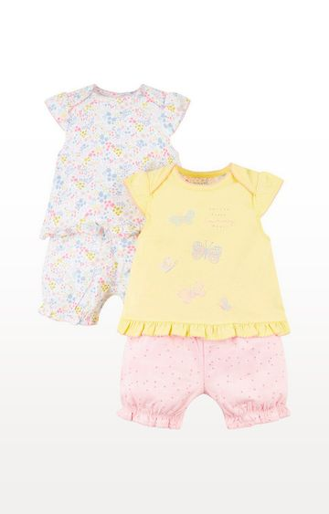 Mothercare | Summer And Floral Shortie Pyjamas  2 Pack