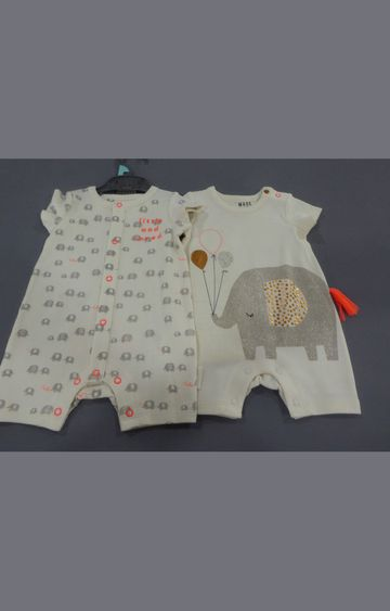 Mothercare | Cream Printed Romper