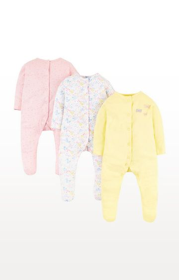 Mothercare | Summer Floral Sleepsuits  3 Pack