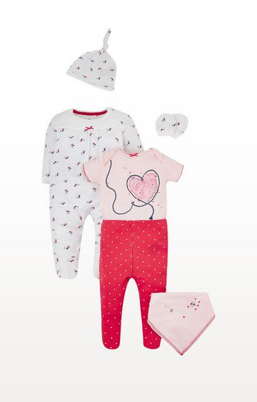 Mothercare | Seaside Floral And Hearts 6-Piece Set