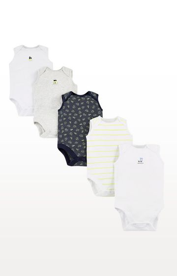 Mothercare | Boat Bodysuits 5 Pack