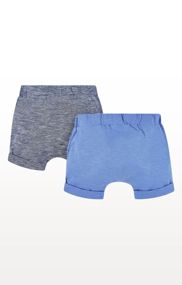 Mothercare   Blue Striped Shorts - Pack of 2