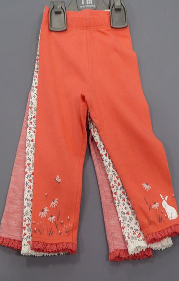 Mothercare | White and Orange Printed Trousers - Pack of 3