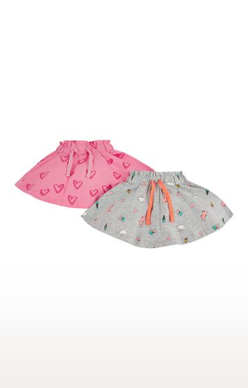 Mothercare | Pink and Grey Shorts - Pack of 2