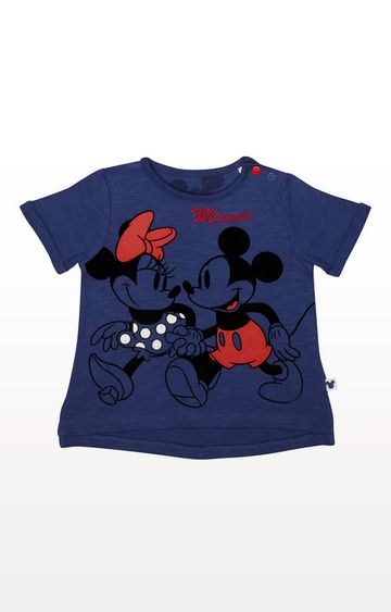 Mothercare | Disney Minnie And Mickey Navy T-Shirt