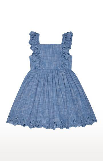 Mothercare   Blue Melange Dress