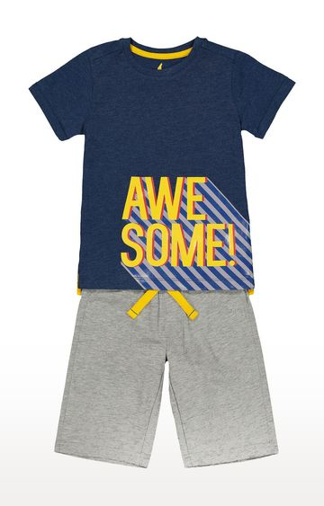 Mothercare | Blue Printed Twin Set