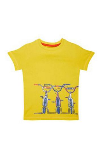 Mothercare | Yellow Printed T-Shirt