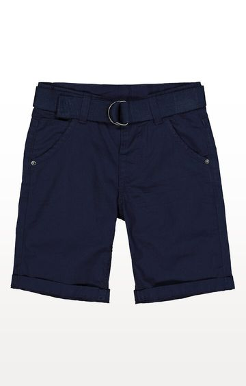 Mothercare | Navy Twill Belted Shorts