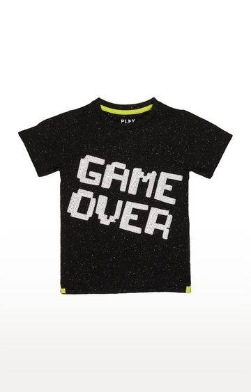 Mothercare | Black Printed T-Shirt