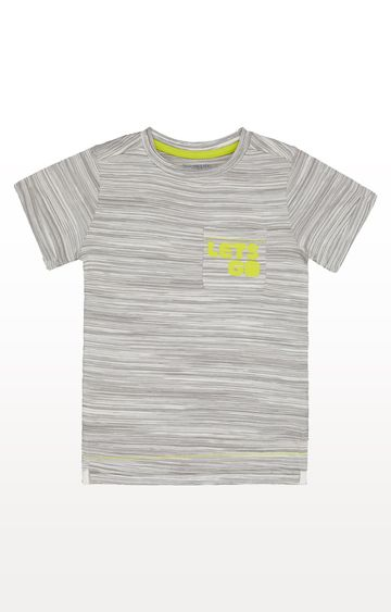 Mothercare | Grey Stripe Lets Go T-Shirt