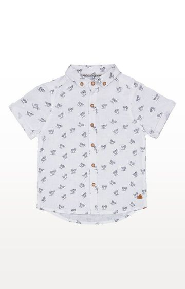 Mothercare   White Palm Trees Shirt
