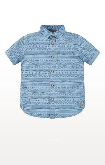 Mothercare | Blue Aztec Print Shirt