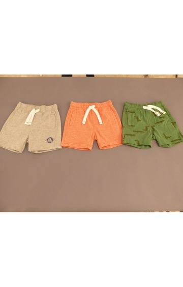 Mothercare | Grey, Orange and Green Printed Shorts - Pack of 3