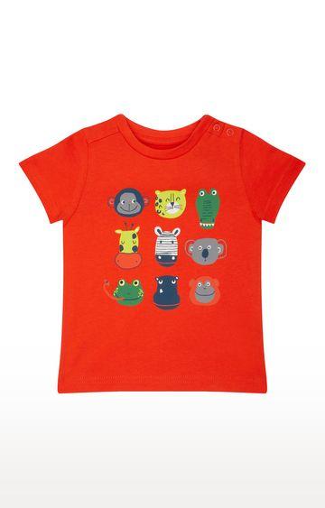 Mothercare | Orange Printed T-Shirt