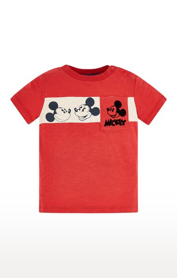 Mothercare | Disney Mickey Mouse Faces Red T-Shirt