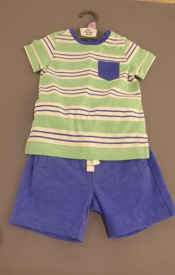 Mothercare | Green Striped Twin Set