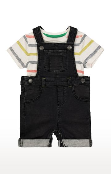 Mothercare | Charcoal Solid Dungaree