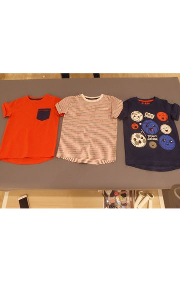 Mothercare | Red & Navy Printed T-Shirts - Pack of 3