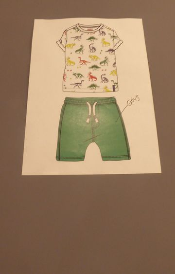 Mothercare | Green Printed Twin Set