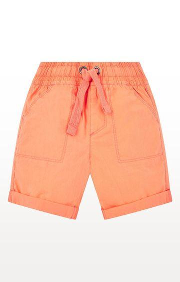 Mothercare | Boys Coral Poplin Shorts - Coral