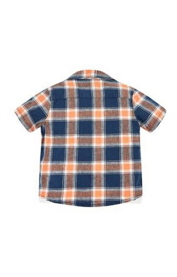 Mothercare | Blue and Orange Printed T-Shirt and Shirt Combo