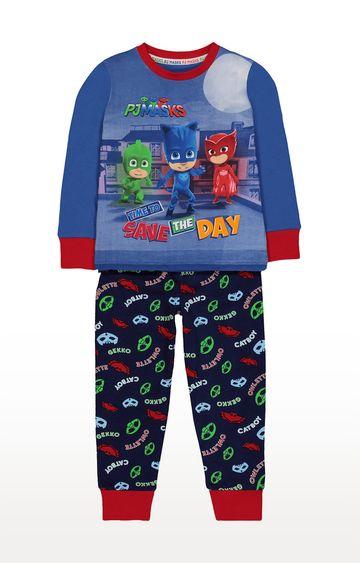 Mothercare   Dark Blue Printed Sleepwear Pyjamas
