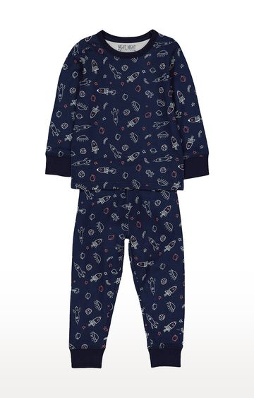 Mothercare | Navy Printed Nightsuit