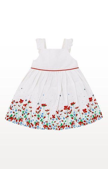 Mothercare | White Border Print Dress