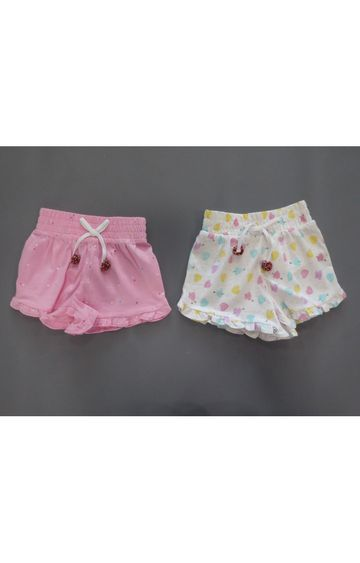 Mothercare | Pink and White Printed Shorts - Pack of 2