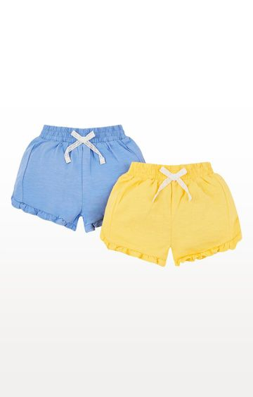 Mothercare | Yellow and Blue Printed Shorts - Pack of 2