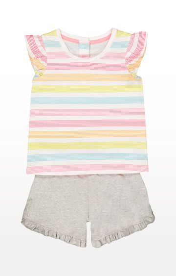 Mothercare | Striped Vest and Shorts Set