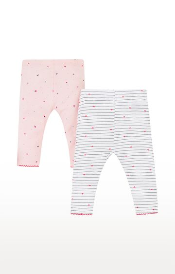 Mothercare | Pink and White Printed Trousers