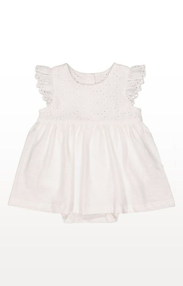 Mothercare | White Broderie Romper Dress