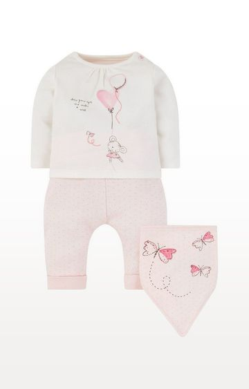 Mothercare | My First Little Mouse T-Shirt, Joggers And Bib Set