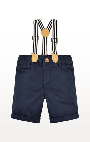 Mothercare | Navy Shorts With Braces