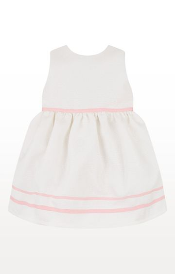 Mothercare | White Printed White Jacquard Prom Dress