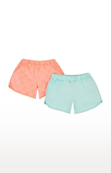 Mothercare | Coral and Turquoise Printed Casual Shorts