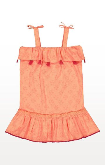 Mothercare | Palm Tree And Flamingo Coral Tassel Dress