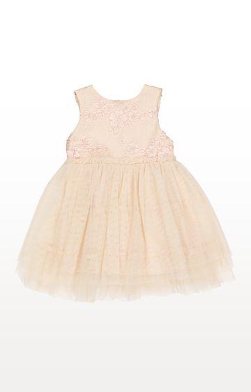 Mothercare | Pink Flower Printed Twofer Dress