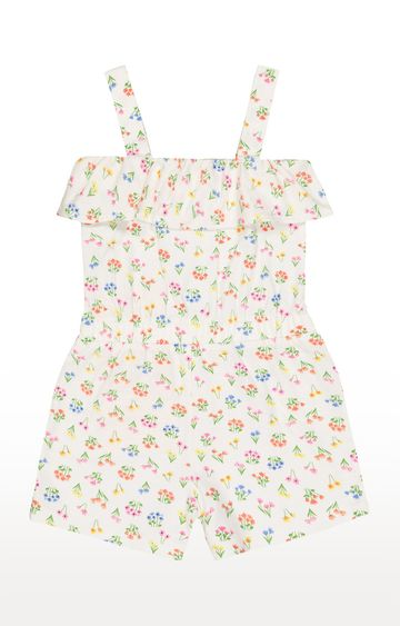 Mothercare   White Printed Jumpsuits