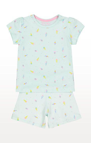 Mothercare   Ice Cream Green Shortie Pyjamas